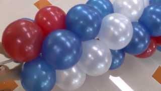 Арка, Гирлянда из шаров на улице. Arch of balloons.(Арка из воздушных шаров на открытие.В этом коротком #видео показан процесс изготовления арки из #воздушных..., 2013-08-01T09:08:37.000Z)
