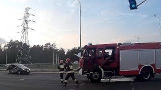 Zderzenie z udziałem wozu bojowego straży pożarnej ▪ polskiedrogiPLUS
