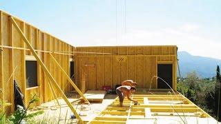 Строительство 2-х этажного каркасного дома за 3,5 минуты