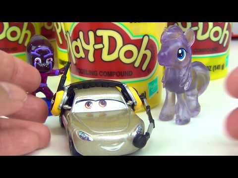 Disney CARS 3 Play-doh Toy Surprises, Lightning Mcqueen Cruz Mater , Learn Colors / TUYC