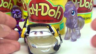 Disney CARS 3 Play-doh Lids Toy Surprises with Lightning Mcqueen
