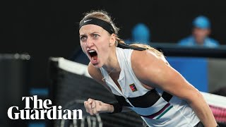 'They were happy tears,' says Kvitova after beating Barty