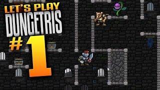 dungetris Gameplay Ep 1- Tetris Meets Dungeon Crawler - Let's Play Dungetris Episode 1 Roguelike RPG