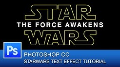 StarWars The Force Awakens Text Effect Tutorial | Photoshop CC