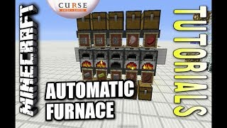 Minecraft PS4 - AUTOMATIC FURNACE ARRAY - How To - Tutorial ( PS3 / XBOX ) TU28