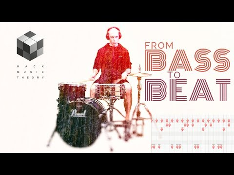 How to Program Drum Beats from Bass Lines (Lesson for MIDI Drums & Real Drums) | Hack Music Theory