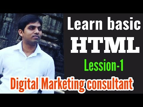 Lesson 1:- How To Create HTML Web Page Using Notepad | Digital Marketing Consultant