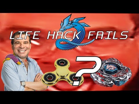 MAKE A BEYBLADE WITH YOUR FIDGET SPINNER? - Life Hack Fails #4