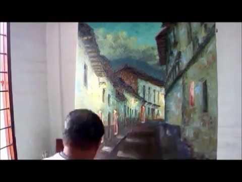 PINTANDO UN PAISAJE URBANO CON ESPÁTULA. Joaquín Endara Ruiz