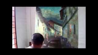Repeat youtube video PINTANDO UN PAISAJE URBANO CON ESPÁTULA. Joaquín Endara Ruiz