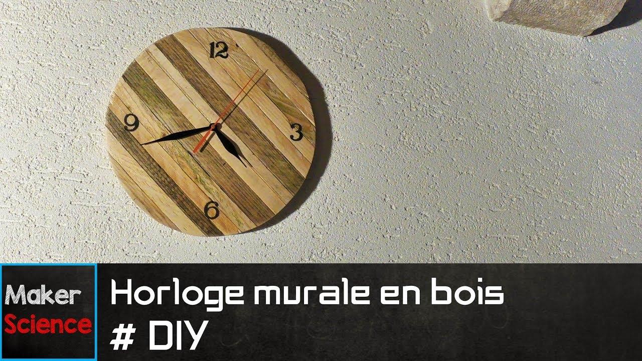 #DIY Horloge murale en bois