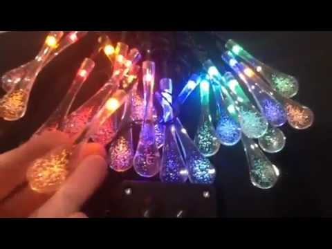 Goodia waterproof solar outdoor string lights review gorgeous goodia waterproof solar outdoor string lights review gorgeous raindrop shaped solar fairy lights aloadofball Image collections