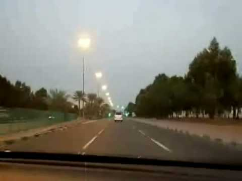 Driving from Al Ain Road on the way Back to Dubai