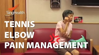 Physiotherapy Management of Tennis Elbow  SingHealth Healthy Living Series