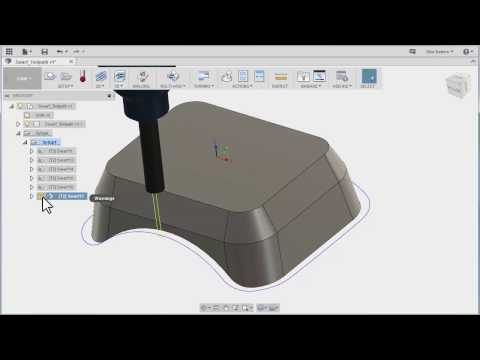 Fusion Ultimate Swarf 5 Axis Toolpath - Tutorial 1 of 2