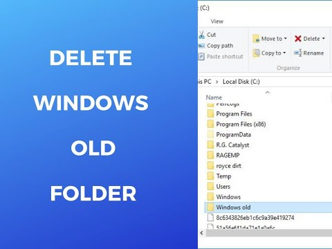 How to Delete the Windows old folder in Windows 7-8-10 (Silent lesson)