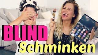 BLIND-SCHMINKEN-CHALLENGE mit Tobias 🙈  | Maren 💕