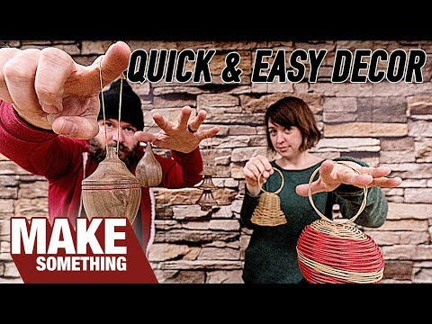 Making a Dozen Unique Christmas Ornaments // Woodworking & Basket Weaving