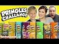 PRINGLES CHALLENGE! 11 Flavor Taste Test! Johnny, Zoey, Justin Aunt Uncle