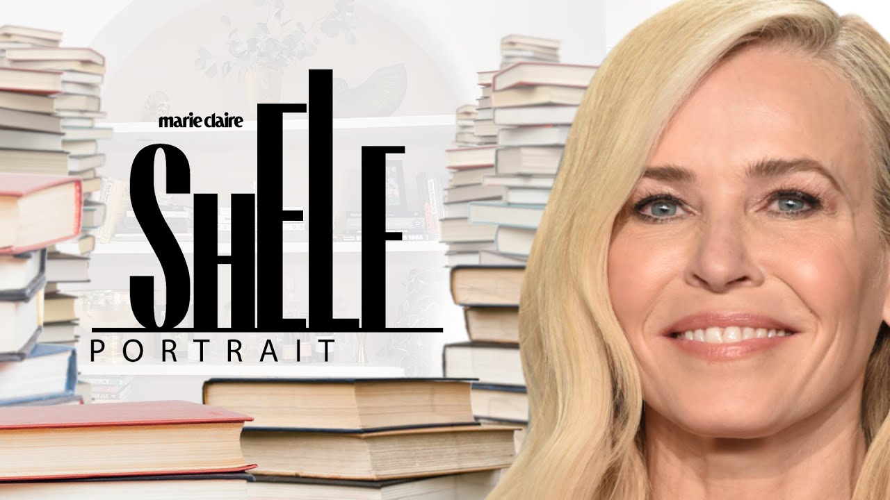 Inside Chelsea Handler's Packed Personal Library | Shelf Portrait | Marie Claire