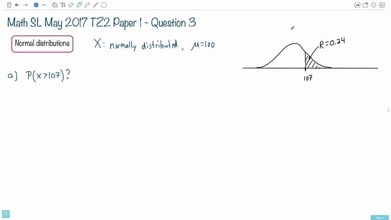 Question 3a — IB Math SL — May 2017 TZ2 Paper 1 — Past IB Exams Solutions