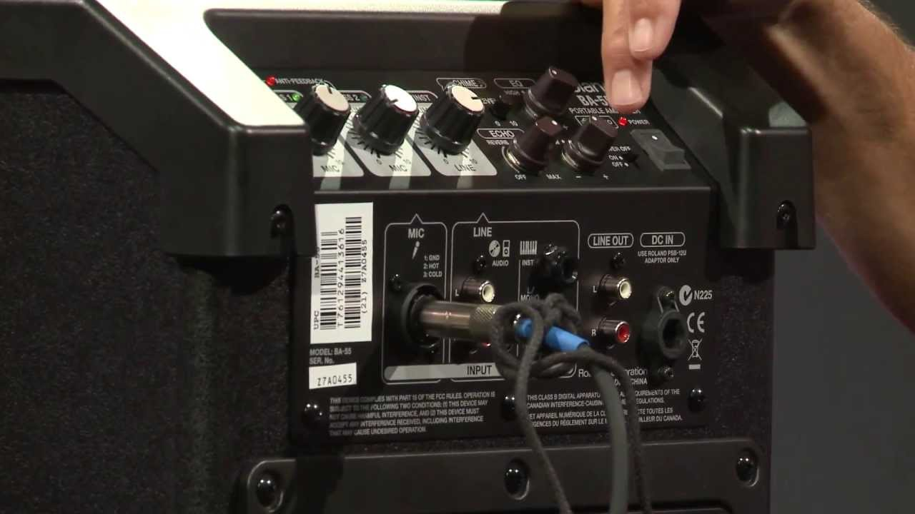 Roland ba 55 portable battery powered pa system amplifier overview full compass