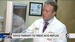 Voice therapy to treat acid reflux