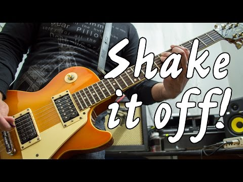 Taylor Swift - Shake It Off   electric guitar cover (instrumental & backing track)