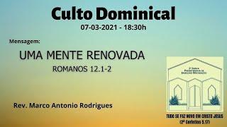 UMA MENTE RENOVADA - Romanos 12.1-2