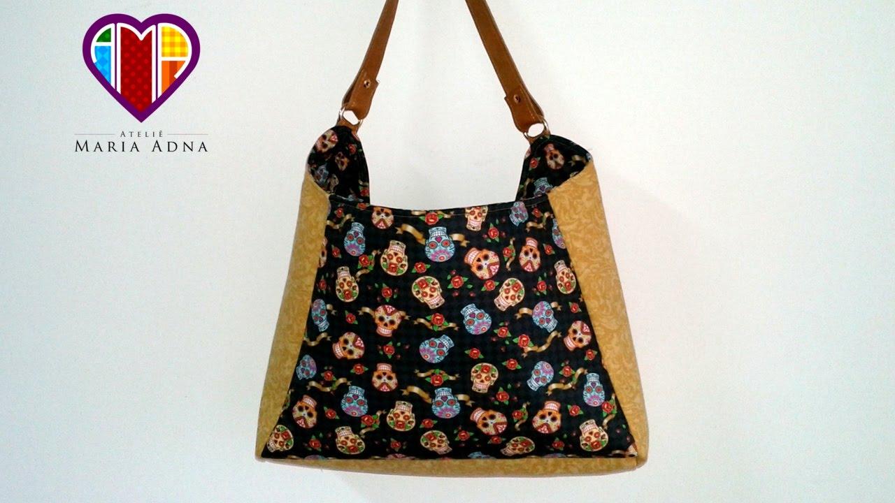 Bolsa De Papelão E Tecido Passo A Passo : Bolsa de tecido bonnie compre o projeto com moldes