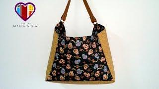 Bolsa sacola em tecidos Bonnie – Maria Adna Ateliê