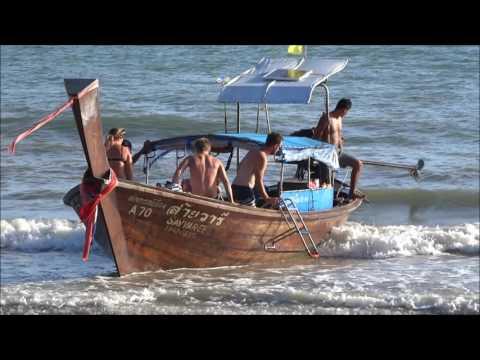 Thailand, Krabi: Walking along Ao Nang Beach and Views From The Beach