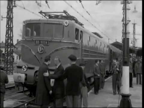 1955 World train speed record SNCF 331 km/h 3/3