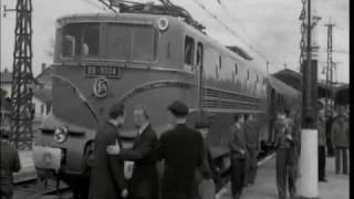 1955 World train speed record SNCF 331 km/h 3/3