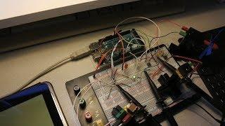 Arduino MegaADK #25 : Test, Android, JavaScript, time, delay, fischertechnik, AVR C, lamp, wiring