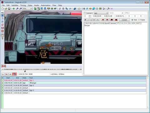 Aegisub Visual Typesetting Tutorial