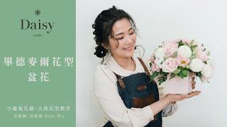 小雛菊花藝學校古典花型教學畢德麥爾花型盆花歐式古典花型必學花型