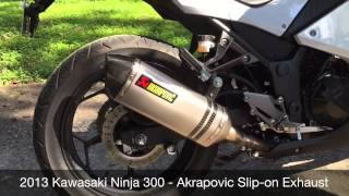 Kawasaki Ninja 300 - Akrapovic Titanium Exhaust