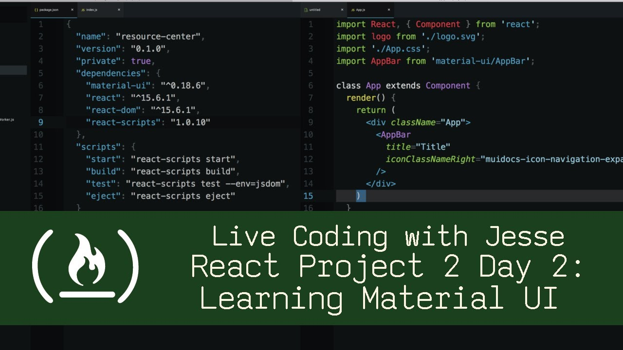 React Project 2 Day 2: Learning Material UI - Live Coding