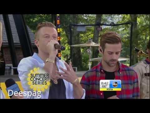 Macklemore Ryan Lewis White Walls GMA Good Morning America HD