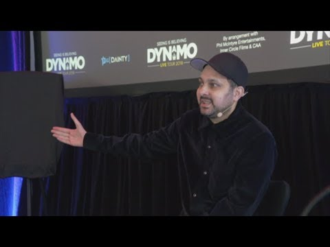 Famous magician Dynamo gives a taste of what he has in store for New Zealand