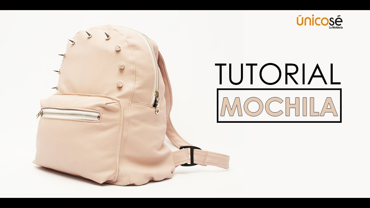 DIY Tutorial costura: Mini mochila Acc1712 (VIDEO COMPLETO) - YouTube