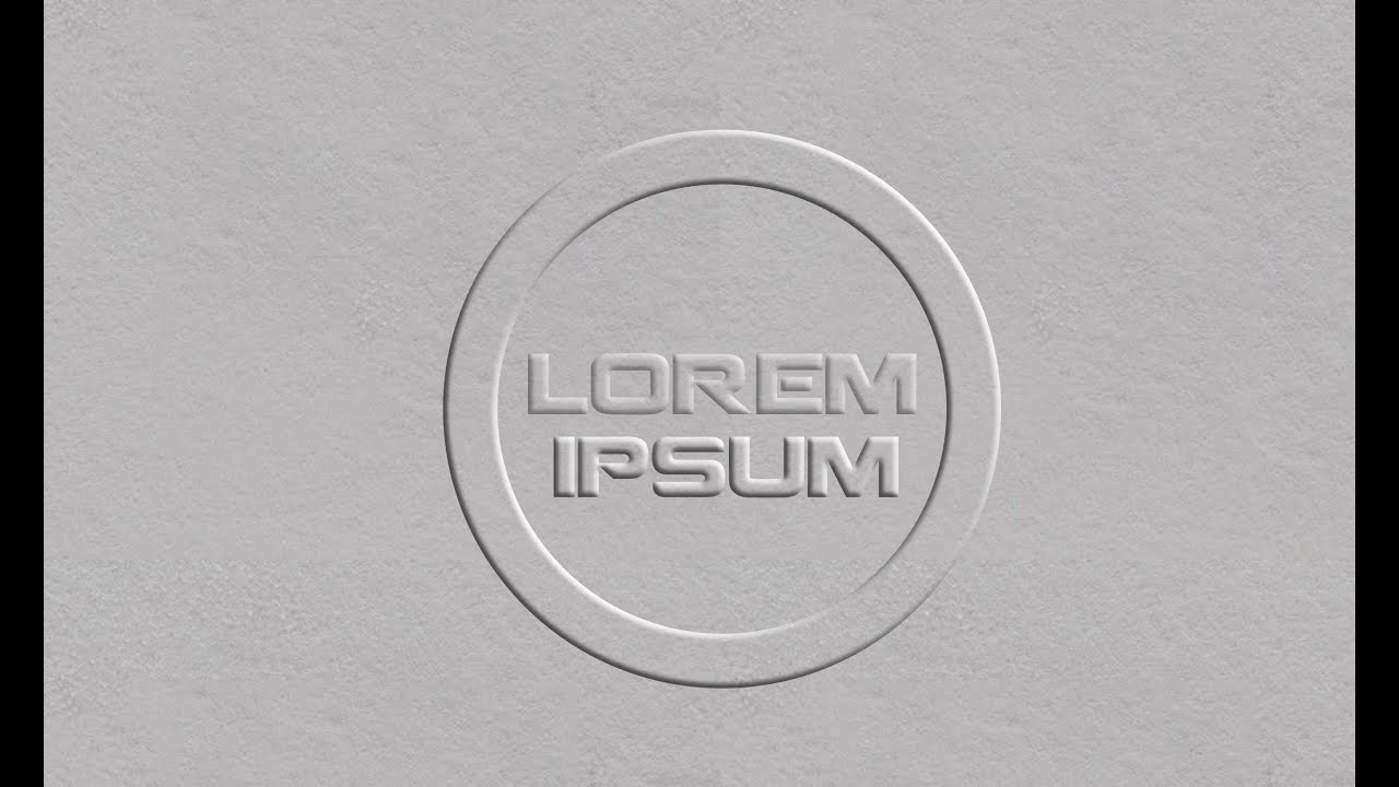 photoshop tutorial embossed paper logo design youtube