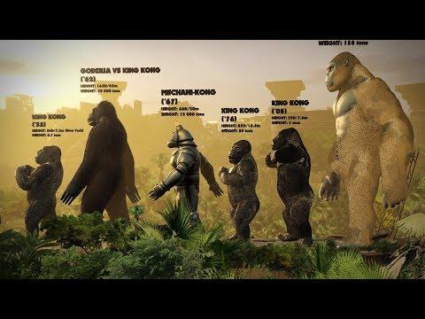 EVOLUTION Of KING KONG: Size Comparison