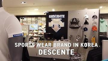 SPORTS WEAR BRAND!! DESCENTE STORE VISITED IN KOREA
