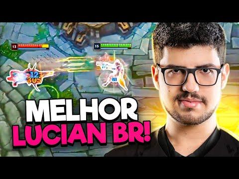 O MELHOR LUCIAN TOP DO BRASIL! DUO COM BRUCER! (LOL)
