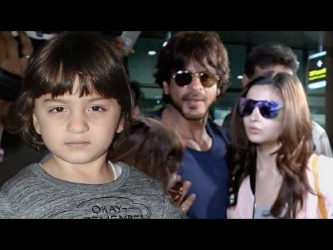 Aww! AbRam & Alia Bhatt Walk Out Of The Airport Hand-in-hand; SRK Follows Them