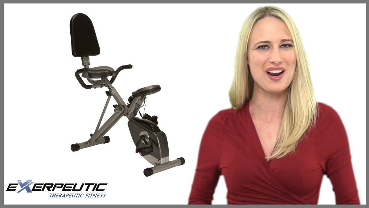 Exerpeutic 400xl Folding Recumbent Bike Review Youtube