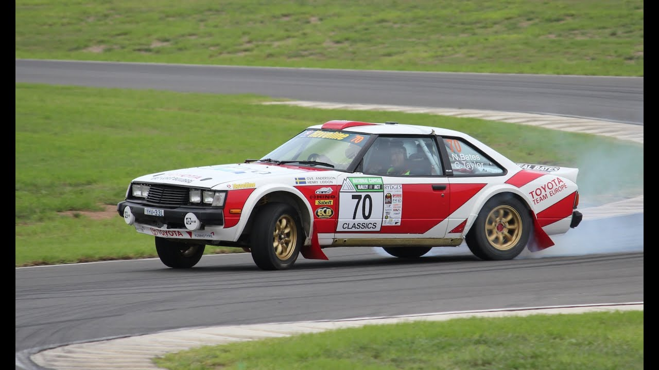 Completely sideways with Neal Bates in a Toyota Celica RA40 ...