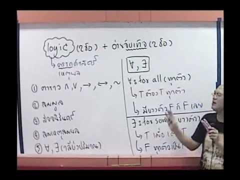 ตรรกศาสตร์ (logic) ม.4 [1-2 ] พื้นฐาน www.tutoroui-plus.com